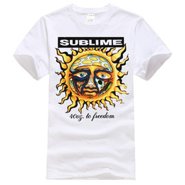 Wholesale freedom sleeve - Best T Shirts Sublime 40Oz To Freedom Short-Sleeve Casual O-Neck Crew Neck Regular Short Tee Shirt For Men