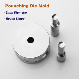 Wholesale Stamps Machine - 6mm Arc Round Punching Die Mold Stamp Mould for Pill Maker TDP-0 1.5 Tablet Press Machine