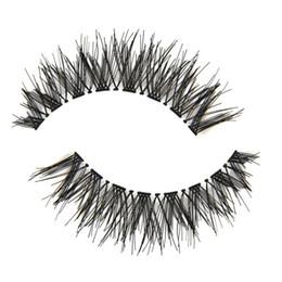5 Paare Faser-gefälschte Wimpern-Qualitäts-starke kreuzweise unordentliche natürliche lange falsche Wimpern Winged Smokey Make-upwimpern von Fabrikanten