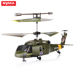 Wholesale Radios Control - SYMA S102G Mini 3CH RC Helicopter with Gyroscope Gunships Simulation Indoor Radio Remote Control Toys for Military Enthusiasts 2107304