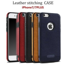 Wholesale Leather Shell Pouches - New Luxury Leather Stitching Cell Phone iphone 7 i7 mobile phone shell Samsung S8 plus protective cover Anti-knock soft case