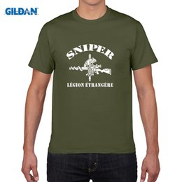 Wholesale Black Legion - New French Foreign Legion 2e Legion Etrangere Special Forces Sniper logo T-shirt Homme Camisetas Men's Swag Cotton Shirts Tees