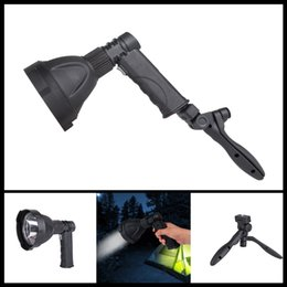 Wholesale Usb Handheld - USB Input Output Charging L2 LED Flashlight 6000LM Handheld Flash Light Lamp Torch Lantern With Stand Support Built in Bat Portable Lanterns