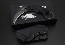 Wholesale Fighting Fixed Blades - Strider Fight karambit Fixed Blade Knife D2 Blade G10 Handle Stonewashed Tactical Camping Hunting Survival Pocket Knife Military Utility EDC