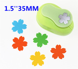 Wholesale Blossom Cutters - Wholesale- free ship Cherry blossoms punch paper cutter crafts scrapbook Embossing device kid hole punches cortador de papel S2934-8