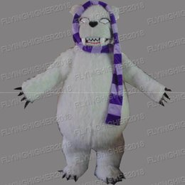 Wholesale High Quality Bear Suits - Higher quality polar bear Mascot Costume adults fruit christmas Halloween Outfit Fancy Dress Suit EMS Free Shipping
