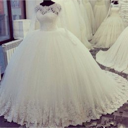 New Gorgeous Real Image Ball Gown Lace Muslim Wedding Dress 2017 Full Sleeve  Long Custom Size Bridal Handmade Applique Beads Crystal Sparkly 78ed70379b8a