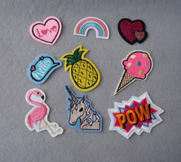 Wholesale Iron Badges Wholesale - 9 in1 new arrive Mixed Patches For Clothing Iron On Embroidered Appliques DIY Apparel Accessories Patches For Clothing Fabric Badges