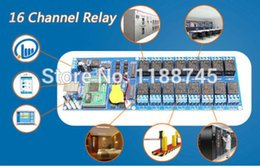 Wholesale Industrial Ethernet - Wholesale- Industrial Ethernet 16 Channel Output TCP IP Internet Web Relay Remote Switch