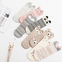 Wholesale Lovely Japanese - Wholesale- 2016 New Lovely Cartoon Women Socks High Quality Cotton Sox Japanese Fashion Style Socks Autumn Winter Warm Socks For lady Girls