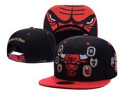 Wholesale Bull Hats - Fashion Casual Adjustable Bulls Hat Unisex Hip Hop Snapback Chicago Basketball Baseball Caps for Men women