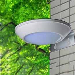 Wholesale Solar Waving - 2018 New LED Solar Wall Lamp Outdoor Garden LED Light Solar Power Radar wave Sensor Waterproof Courtyard Street Light 16 LED Hot Sale