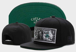 Wholesale Bills Snapback - New Fashion Cayler & Sons DOLLA DOLLA BILL YALL Baseball Caps Casquettes chapeus for Women Men Snapback Snap Back Unisex Hip Hop Hats gorras