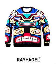 Wholesale Code Sweaters - Men's men's T-shirt code personality custom men's sweater yeezuse new tide brand animation