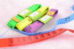 Wholesale Tailor Wholesale Clothing - Tape Measure Tool Houshold Measure Clothes Body 150CM Tailor Tape Double Iron Head High Quality Tape Colorful Durable