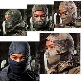 2019 casco táctico del ejército Multicam Balaclava Camuflaje táctico Paintball Wargame Militar Army Helmet Protección máscara completa para ciclismo de la motocicleta rebajas casco táctico del ejército