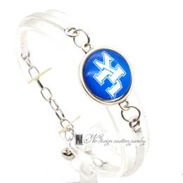 Wholesale Claw Bracelets - 2017 Fashion Bracelet&Bangle Kentucky Wildcats NACC University Team Sport Charms Bracelet for Women Fan Jewelry SP020