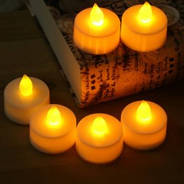 Wholesale Party Light Votive Candle - Flameless votive Candles Battery Operated Electronic candle wholesale high quality candle lights marriage proposal romantic led night lights