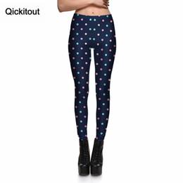 Wholesale Joker Trousers - Wholesale- Qickitout 2016 Summer Sexy Fashion Leggings Women Casual joker Leggings Colorful dots Digital Printing Pants Trousers Drop ship