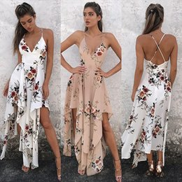 Wholesale Kinder Dresses - 2017 Europe and The United States Sell Fast Blasting Paragraph 12+1 Kinds of Women's Beach Dress and Tops Sleeveless Printed Chiffon Dress