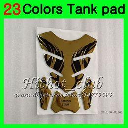 Wholesale Bmw Tank Pad - 23Colors 3D Carbon Fiber Gas Tank Pad Protector For BMW K1200S 05 06 07 08 K1200 S K 1200 S K 1200S 2005 2006 2007 2008 3D Tank Cap Sticker