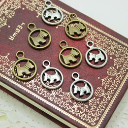 Wholesale Dog Sweets - Sweet Bell 50pcs Fashion Jewelry Charms Two color Metal Alloy 15*21mm Lovely Dog Jewelry Pendants Charms Findings diy 1326
