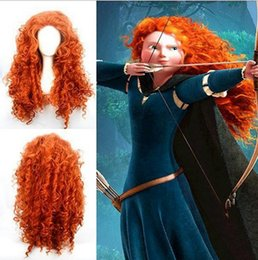 Wholesale Wigs For Carnival - Brave Merida Wigs for Party Supplies Halloween Cosplay Wig Women Cosplay Costumes High Quality Carnival Decoration Tools