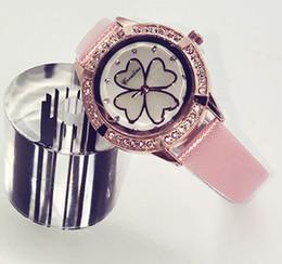 Wholesale Clover Dress - 5pcs wholesale ch women Luxury brand diamond fashion Dress Wristwatch Four Leaf Clover Watches Women Lady Bracelet Watch