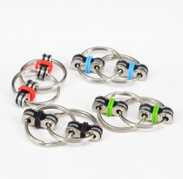 Wholesale Wholesale Two Finger Rings - Metal Key Ring Fidget Spinner Two Round Rings Hand Spinners Vent Spinning Top Relieve Tension Finger Toys New Arrival 6zx