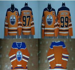 Wholesale Ice Outlet - Cheap 2017 2018 New Brand Men 97 Connor McDavid 99 Wayne Gretzky Blank Edmonton Oilers Orange Wholesale Factory Outlet Ice Hockey Jerseys