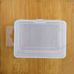 Wholesale Sample Box Free Shipping - Transparent Plastic Storage Box For Coin Sample Container Jewelry Cosmetic Small Part Boxes Free Shipping ZA4000