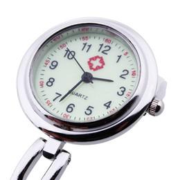 Wholesale Digital Fob Wholesale - Wholesale-Nurse Doctor Brooch Pocket Fob Pendant Quartz Watch New