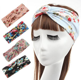 Brand new New hair trim headband printed cotton cross hair band ladies hair  band TG036 mix order 30 pieces a lot 906b57de7ee