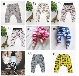 Wholesale Leggings Clouds - Baby Ins Pp Pants Ins Xmas Harem Pants Cotton Deer Moose Cloud Pants Kids Fashion Leggings Girl Tights Newborn Trousers 10 Design