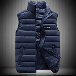 Wholesale cheap fashion winter clothes - Wholesale- 2016 New Fashion Mens Warm Vest Sleeveless Winter Jacket Men High Quality Waistcoat Plus Size S To 6XL Cheap Brand Clothes