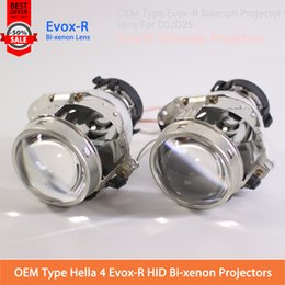 Wholesale D2s Light - 2Pcs OEM Evox-R Bi-xenon Projector Lens Hella 4 D2S D2H D4S Xenon Bulb original install AUDI A6L Domestic Xenon Lens headlight