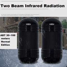 Wholesale Ir Beam Detector - Newest Photoelectric Dual Beam Perimeter Fence Active Infrared IR Sensor Barrier Detector Transmitter Receiver ABT-60 80 100