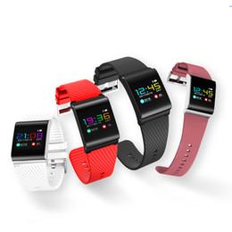 Wholesale Pink Blood Pressure - Smart Wristband Large Screen Waterproof Bluetooth 4.0 Smart Bracelet Heart Rate Monitor Pedometer Push Message X9 Pro