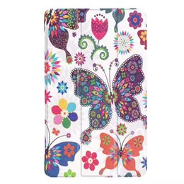Wholesale Huawei Mediapad Case Inch - For Huawei 8 inch mediapad T3 8.0 case color printing three folding ultra-thin protective cover
