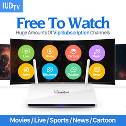 Wholesale Iptv Receiver Box Arabic Channels - IPTV Streaming Box Leadcool Android Wifi 1G 8G Include 1700 Italy Portugal French Receiver Europe Arabic Channels Package