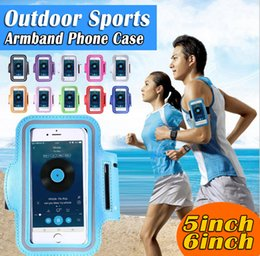 Wholesale Mobile Ba - For S8 S7 Case Iphone 6 IPHONE7 Waterproof Sports Running Armband Case Workout Armband Holder Pounch For Iphone Mobile Phone Arm Bag Ba