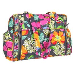 Wholesale Baby Phones - VB baby diaper bag Flower cotton Shoulder Bag Handbag Tote bag