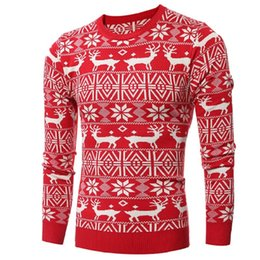 Wholesale Ugly Sweaters - Wholesale- Sweater men high street wear oversize hip hop thick high quality new design ugly christmas sweater pullover wool down