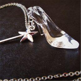 Cinderella glass slipper necklace online cinderella glass slipper 3 fotos cinderella glass slipper necklace en venta collar de pantuflas de cristal de 20 piezas de aloadofball Gallery