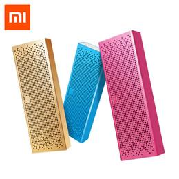 Aluminiumlautsprecher online-Großhandels- ursprünglicher Xiaomi Mi Bluetooth Lautsprecher beweglicher drahtloser Minilautsprecher Zusatz in BT4.0 Englisch Ver. für IPhone und Android-Telefone