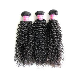 Wholesale Long Curly Human Hair Weave - 3Pcs lot 8A Brazilian Virgin Hair Extension 100% Unprocessed Remy Human Hair Weaves Weft Kinky Curly Dyeable Long Lifetime Free Shipping