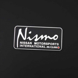 Wholesale Nismo Sticker Accessories - 80*39mm Automobile Emblems Nismo Logo Car Styling Self Adhesive Glossy Custom Metal Car Sticker Design Motorcycle Accessories