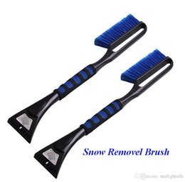 Wholesale Car Spade - Long Handle Snow Car Brush Winter Snow Shovel Ice Clear Tool Multifunctional Vehical Product Scraper Removal Emergency Spade ATP104