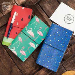 Wholesale Wholesale Printed Notepads - Wholesale- Printed 8 Styles Japan Creative Kawaii Cute Cartoon Diy Notebook Leather Bound Travel Journal Diary Planner Agenda Gifts