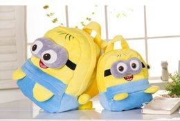 Wholesale Minion Backpacks - Fashion Cute Despicable Me Children's Gifts Children School Bag Kids Backpack Children Plush Minions Toy Boy Gir Cartoon Shoulder Bag